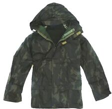 GENTS WATERPROOF WINDPROOF WOOD CAMO JACKET Mens sizes fishing hiking hood coat