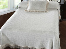 New Twin Size Heritage Matelasse Bedspread with optional sham Bates MHW