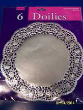 "Metallic Solid Color Paper Party Table Decoration 10.5"" Round Doilies 3 COLORS"