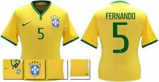*14 / 15 - NIKE ; BRAZIL PLAYER ISSUE HOME SHIRT SS / FERNANDO 5 = SIZE*