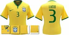 *14 / 15 - NIKE ; BRAZIL PLAYER ISSUE HOME SHIRT SS / LUCIO 3 = SIZE*