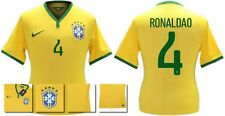 *14 / 15 - NIKE ; BRAZIL PLAYER ISSUE HOME SHIRT SS / RONALDAO 4 = SIZE*