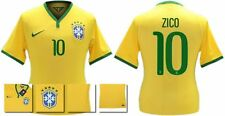 *14 / 15 - NIKE ; BRAZIL PLAYER ISSUE HOME SHIRT SS / ZICO 10 = SIZE*