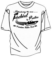 """Introducing The New"" Firebird by Pontiac Retro T-Shirt."