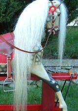 Real Horse Hair, Rocking Horse Mane, Tail & Forelock Set on Hide (Ready to Fit)