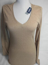 OLD NAVY WOMENS BROWN V NECK LONG SLEEVES  NEW WITH TAG