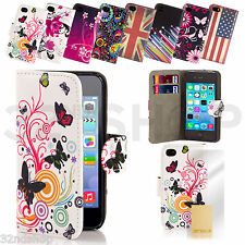 WALLET FLIP PU LEATHER CASE COVER For Apple iPod Touch 5 Free SCREEN PROTECTOR