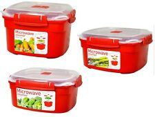 SISTEMA MICROWAVE STEAMER LUNCH BOX CONTAINER PLASTIC TRAVEL WORK - CHOOSE SIZE