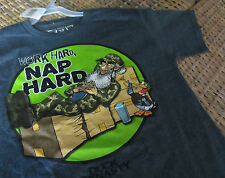 new DUCK DYNASTY Uncle Si Work Nap Hard t SHIRT BOYS youth S M L or XL cartoon