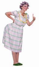 Aunt Gertie Old Woman Granny Plaid Funny Fancy Dress Up Halloween Adult Costume