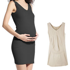 Franato Women's Seamless Maternity Dress Nursing Tank Pregnant Woman Soft Comfty