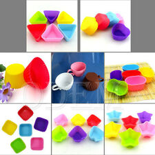 #XQA5 Silicone Soap Chocolate Candy Cookie Muffin Cup Cake Baking Mold Tool