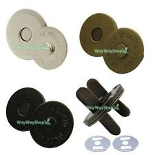 "10 20 50 100 3/4"" 18mm Magnetic snaps purse closures Round Clasp Button Bag Thin"