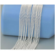 "10X Wholesale Fashion jewelry 60% Silver Beads Ball Chain Necklaces 16"" To 30"""