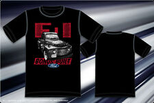 Ford F1 Pickup Truck T-shirt Bonus Built Ford Hot Rod Black Cotton Mens Shirt