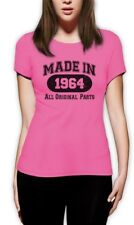 Made In 1964 Women T-Shirt All Original Parts 50th Birthday Gift Idea Mom Dad