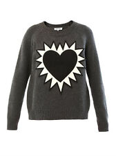 NWT Elizabeth and James Flaming heart appliqué sweater retail: $325
