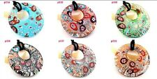 beauty circularity elegant lampwork Murano glass beaded pendant necklace P534