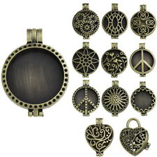 3PCs Photo Frame Locket Pendants Hollow Bronze Tone M2363