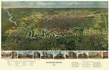 Panoramic Print - Houston Texas - Westyard 1891 - 23 x 35.98