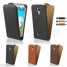 GENUINE LEATHER FLIP CASE COVER FOR SAMSUNG GALAXY S3 S4 MINI Screen Protector