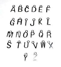 SPECIAL OFFER - x50 SILVER PLATED LETTER ALPHABET CRAFT PENDANT CHARMS BEADS