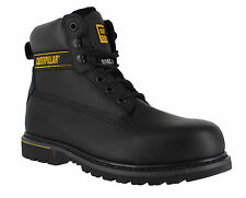 Caterpillar Holton SB Black Steel Toe Cap Safety Working Boots Sizes 8 to 12