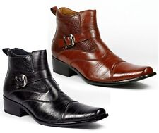 Delli Aldo Men's Dress Ankle Boots Shoes Styled in Italy w/ Leather Lining