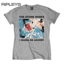 Official T Shirt THE STONE ROSES Wanna Be ADORED Grey All Sizes