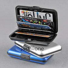 Credit Bank ID Business Card Holder Protect Case Deluxe Aluminium Plastic Wallet