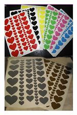Heart Vinyl Stickers Self Adhesive Peel & Stick - 6 Colours Crafting & Wall Art