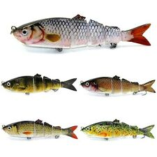 5 Segments Walk the Dog Bass Fishing Hard Lure Baits Stickbait Multi Jointed