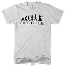 Kendo Evolution T Shirt Mens Womens Present Top Sports Martial Arts Self Defence