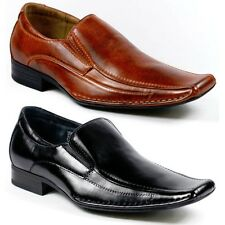 Delli Aldo Mens Square Toe Loafers Dress Classic Shoes w/ Leather lining M-19259