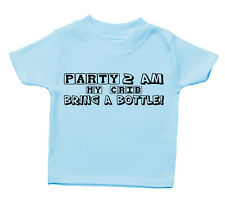 Party At My Crib 2am Bring A Bottle T Shirt Funny Baby Cute Boy Girl Present Kid