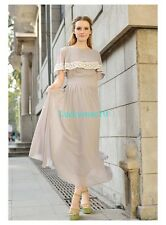Women Chiffon Cloak Lace Dress Long Maxi Evening Cocktail Party Prom Sundress