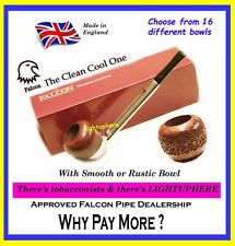 FALCON STRAIGHT PIPE SMOOTH MOUTHPIECE WITH CHOICE OF 16 DIFFERENT BOWLS