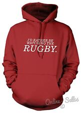 I'd Rather Be Watching The Rugby Hoodie Men Women Kid Fan England Union Gift Dad