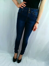 ♥NEW LOOK Denim Blue Skinny High Waisted Jeans Size 6 8 10 12 14 16 18 RRP £23♥