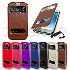 New Slim Flip Window View Case Cover For Samsung Galaxy S3 / S3 mini / S4