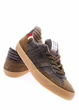 Men's Shoes Sneakers SERAFINI Luxury Military Green Made In Italy Exclusive New