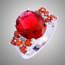 Size L N P R T V New Releases Ruby Spinel Gemstones Silver Ring Free Shipping