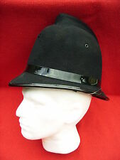POLICE HELMET (BOBBY) OBSOLETE WELL USED CONDITION DE-BADGED FANCY DRESS FETISH