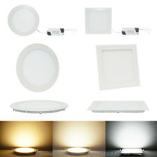 9W/12W/15W/18W/21W Round/Sqaure CREE LED Recessed Ceiling Panel Light Lamp Bulb