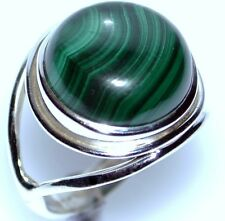 Malachite Rings 925 Sterling Silver Ring Size 5.5-12