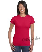 3 Pack Womens Crew Neck Cotton Top Tshirt All Colours + Sizes Brand New T Shirt