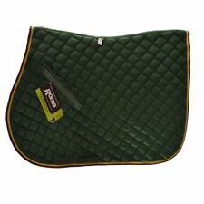 Roma Quilted All Purpose Saddle Pad - Hunter Green w/BurgundyTrim