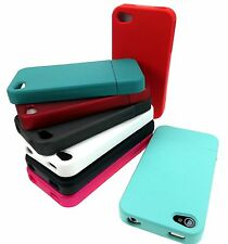 For Apple iPhone 4S 4 Slider 2-Piece Rubberized Matte Hard Case Cover