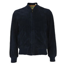 Levi's Vintage Clothing 1960's Suede Bomber Jacket Maolica Blue RRP £680