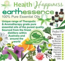 earthessence CERTIFIED 100% PURE ESSENTIAL OILS ~ Aromatherapy ~ Free Gift -